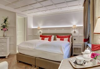Une de nos chambres Brévent 💕 #chamonix #grandhoteldesalpeschamonix